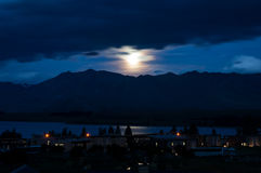 Moonlight On Lake Tekapo Royalty Free Stock Images