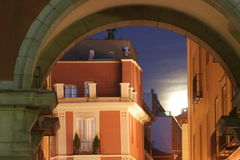 Moonlight in Madrid Royalty Free Stock Photos