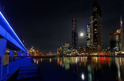 Moonlight in Melbourne Royalty Free Stock Images