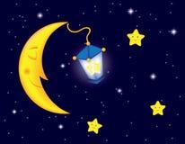 Moonlight night Royalty Free Stock Photos