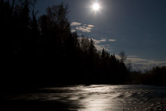 Moonlight night Stock Photography