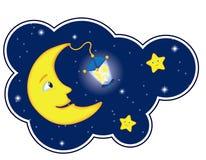 Moonlight Night In Cloud Frame Stock Photos