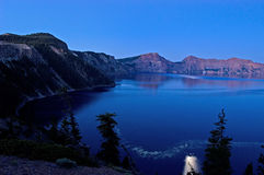 Moonlight over lake royalty free stock photos