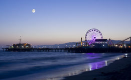 Moonlight Over Los Angeles Royalty Free Stock Photography