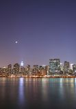 Moonlight over Manhattan. Moonlight over beautiful midtown Manhattan Royalty Free Stock Image
