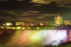Moonlight over Niagara Falls Royalty Free Stock Image