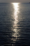 Moonlight path on water Stock Image