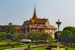 The Moonlight Pavilion, in Royal Palace, Phnom Penh, Cambodia, I. The Moonlight Pavilion, Royal Palace, Phnom Penh, Cambodia, Indochina, Southeast Asia Stock Image