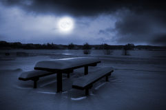 Moonlight picnic stock photography