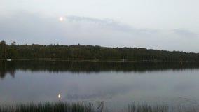 Moonlight reflections stock image