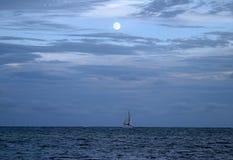 Moonlight Sailing Stock Photos