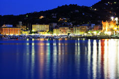 Moonlight in Santa Margherita Ligure Royalty Free Stock Image
