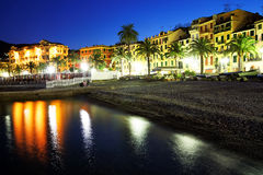 Moonlight in Santa Margherita Ligure Royalty Free Stock Photos