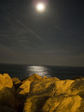 Moonlight sea night Stock Image