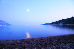 Moonlight seascape Royalty Free Stock Image