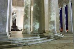 Moonlight Shadows on Thomas Jefferson Memorial Washington DC Stock Image