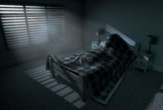 Moonlight Sleep In Royalty Free Stock Image