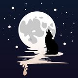 Moonlight. And teen wolf vector eps Stock Images