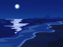 Moonlight, vector Royalty Free Stock Photos