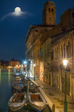 Moonlight in Venice stock images