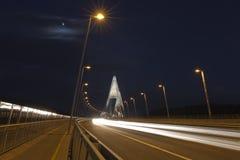 Moonligth和街道照明 免版税库存照片