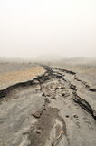 Moonlike surface. On a slope of nevado del Ruiz Stock Photography