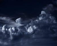 Moonlit облака стоковая фотография rf