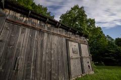 Moonlit Barn Door Stock Image