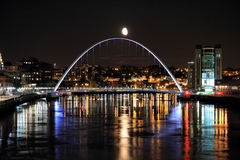Moonlit Bridge Stock Image