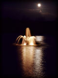 Moonlit fountain Royalty Free Stock Images