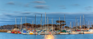 Moonlit Harbor Stock Photos