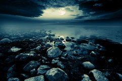 Moonlit lake Royalty Free Stock Photo