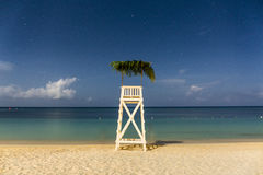 Moonlit Lifeguard Hut Royalty Free Stock Images
