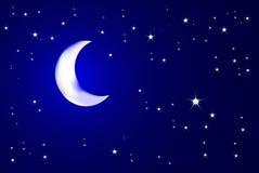 Moonlit Nacht Stockbilder