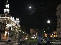 Moonlit Nacht Lizenzfreie Stockbilder