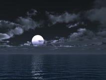 Moonlit night Stock Image