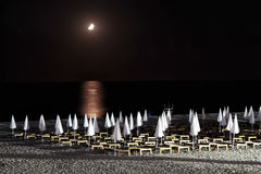 Moonlit Night On The Beach Royalty Free Stock Photography