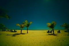 Moonlit night on  beach. Royalty Free Stock Photos
