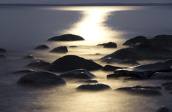 Moonlit night at Onega Stock Images