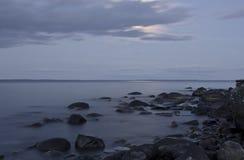 Moonlit night at Onega Royalty Free Stock Photo