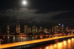 Moonlit night over Australia Stock Photo