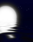Moonlit ocean Stock Images