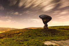 Moonlit Shadow at the Singing Ringing Tree stock photos