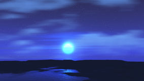 Moonlit sky landscape Stock Images