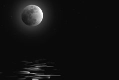 Moonlit Water Stock Images