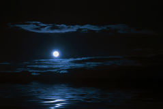 moonreflexion Royaltyfria Bilder