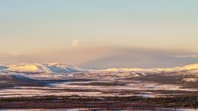 Moonrise ártico Fotografia de Stock