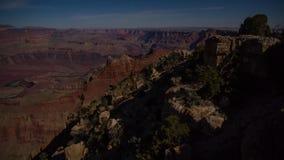 Moonrise över Grandet Canyon lager videofilmer