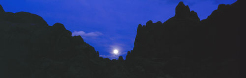 Moonrise at Alabama Hills Stock Photos