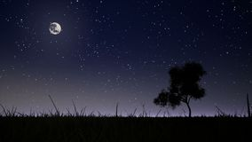 Moonrise on the background of the night sky. Moonrise on the background of the night starry sky stock video